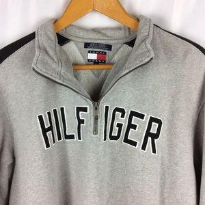 Tommy Hilfiger Gray QuarterZip Pullover